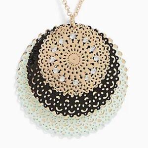 torrid Jewelry - NWT GOLD-TONE & MINT BLUE FILIGREE DISC NECKLACE